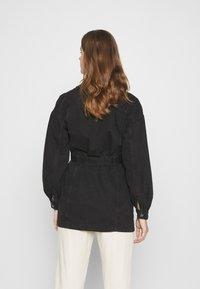 JDY - JDYSANSA BELTED JACKET  - Short coat - black - 2