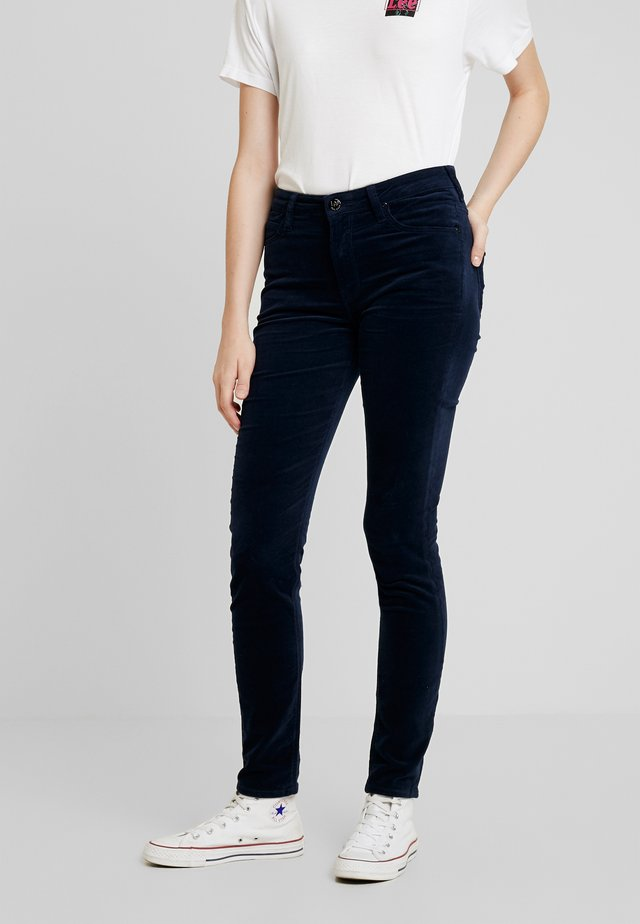 SCARLETT HIGH - Trousers - midnight velvet