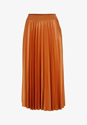 Pleated skirt - adobe