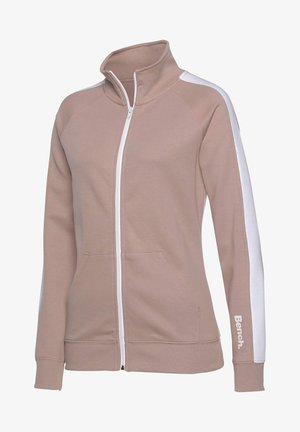 Fleece jacket - nude-weiß