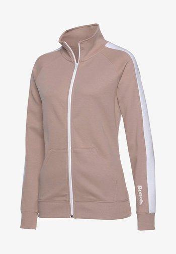 Fleece jacket - nude-weiß