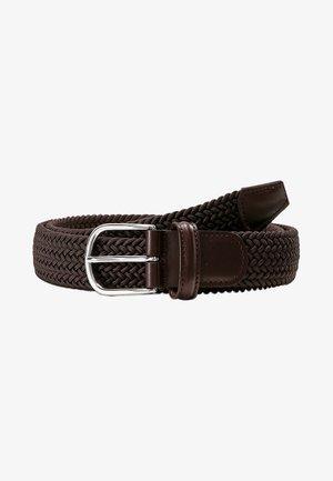 STRECH BELT UNISEX - Pletený pásek - brown