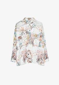 Uterqüe - Button-down blouse - beige - 6