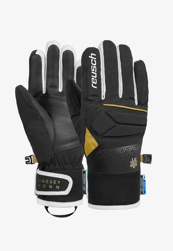 Gloves - black / gold