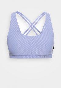 STRAPPY CROP - Light support sports bra - purple