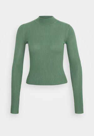 QUINNY VARIGATED - Pullover - duck green