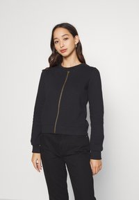 Anna Field - REGULAR FIT ZIP UP SWEAT JACKET - Sudadera con cremallera - black - 0