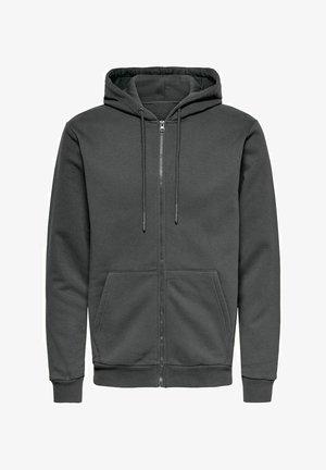 ONSCERES LIFE  - Zip-up hoodie - dark shadow