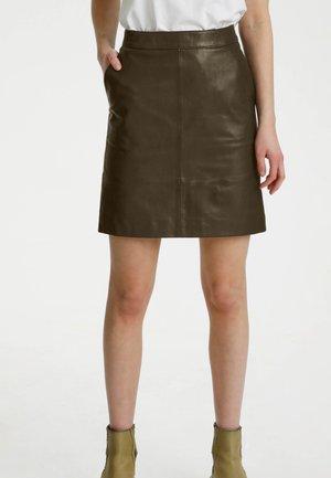 CHARGZ  - Kožená sukně - forrest