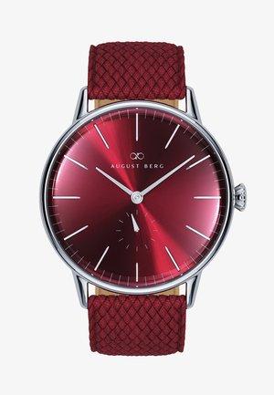UHR SERENITY BURGUNDY SILVER EYE BURGUNDY PERLON 40MM - Watch - sunray red