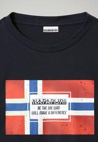 Napapijri - SERA - T-shirt med print - blu marine - 3