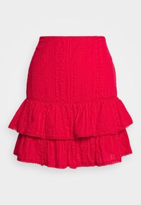 Nly by Nelly - FRILL STRUCTURE - A-line skjørt - red - 0