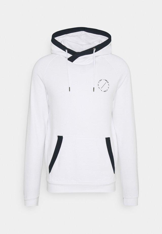 CONTRAST DETAIL HOODIE - Sweatshirt - white