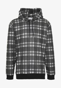 BRUSHED CHECK HOOD - Hættetrøjer - black