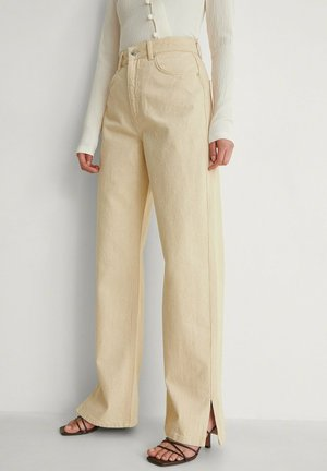 Flared Jeans - natural