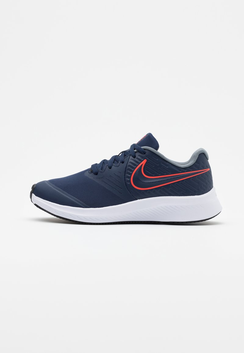 Nike Performance - STAR RUNNER 2 UNISEX - Neutral running shoes - midnight navy/bright crimson/smoke grey/black