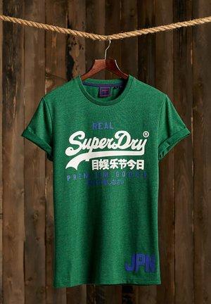 Print T-shirt - willow green grit