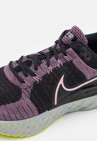 Nike Performance - REACT INFINITY RUN FK 2 - Neutral running shoes - violet dust/elemental pink/black/cyber - 5