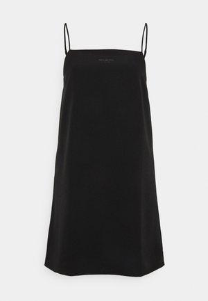 MONOGRAM CAMI SLIP DRESS - Denní šaty - black