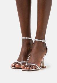 BEBO - TREVIAH - T-bar sandals - silver - 0