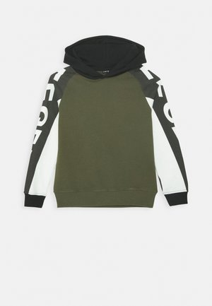 NLMLONZO HOOD - Sweatshirt - ivy green