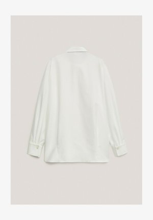 MIT RIPPENMUSTER  - Koszula - white