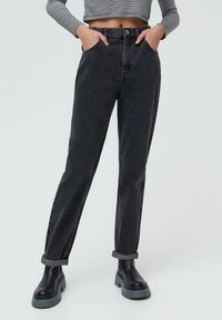 PULL&BEAR - MOM - Jeans baggy - black - 0