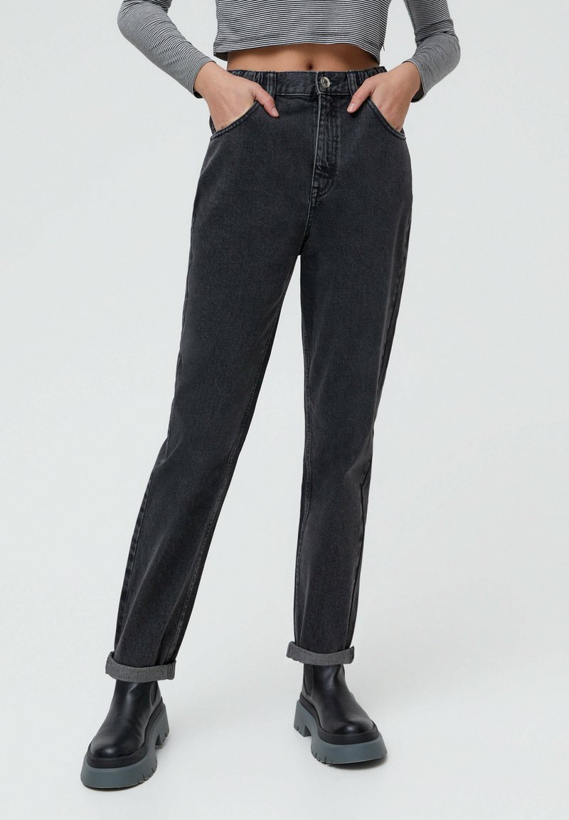 PULL&BEAR - MOM - Jeans baggy - black