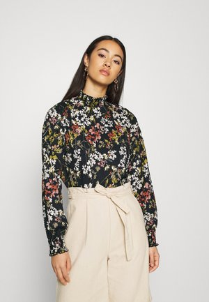 ONLZILLE DETAIL SMOCK - Blouse - night sky/blooming flower