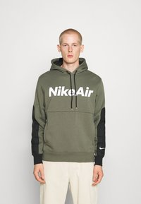 Nike Sportswear - AIR HOODIE - Mikina s kapucí - twilight marsh/black/white - 0