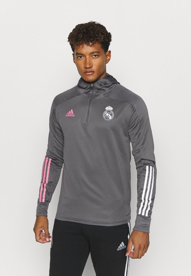 REAL MADRID SPORTS FOOTBALL HOODED - Article de supporter - grey