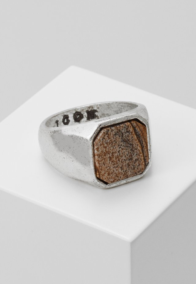 SIGNET - Ring - silver-coloured/brown
