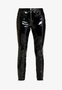 ONLY - ONLBEA GLAZED PANT - Trousers - black - 4