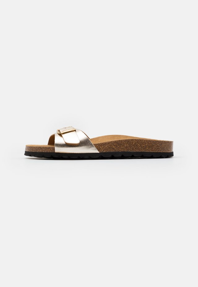 Domácí obuv - gold