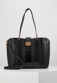 Dorothy Perkins - PANELLED COMPARTMENT TOTE - Tote bag - black - 0