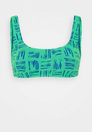 BODY CHECK TANK - Bikini top - fluro lime