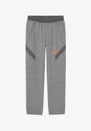 DRY STRIKE  - Pantalones deportivos - smoke grey/total orange