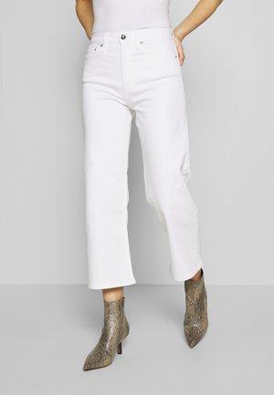 WIDE LEG - Jean flare - white