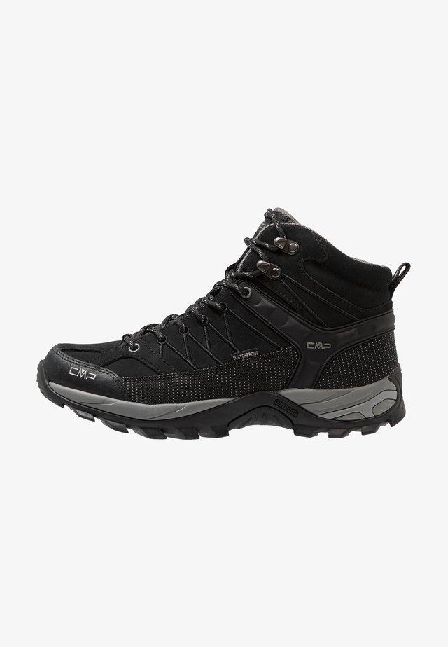 RIGEL MID TREKKING SHOES WP - Hiking shoes - nero/grey