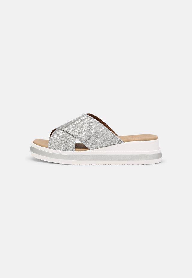 Sandaler - glitter platinum