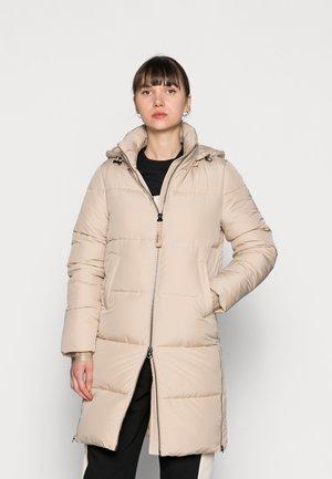 ELASTIC LOGO SORONA COAT - Winter coat - sand