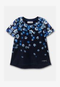 Desigual - OPORTO - Print T-shirt - blue - 0