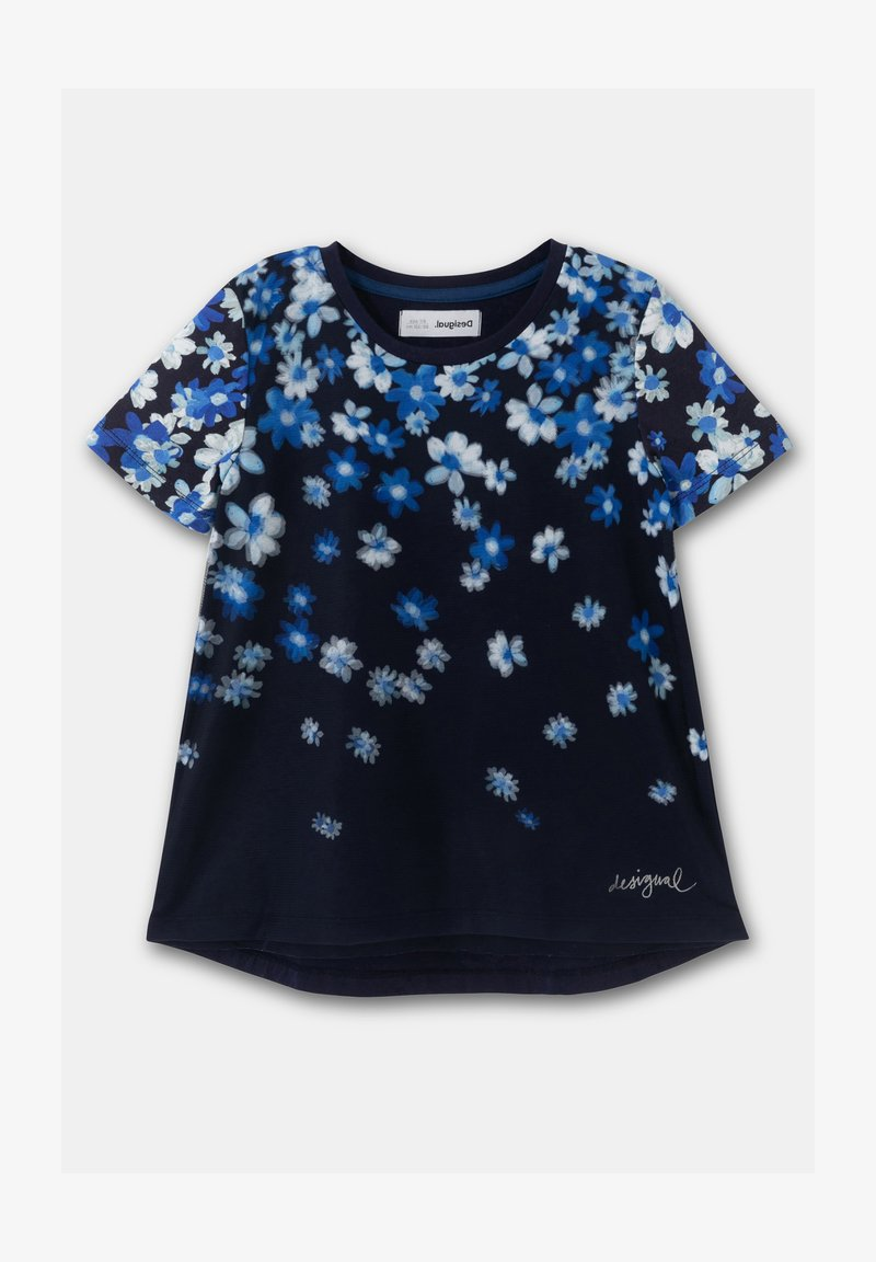 Desigual - OPORTO - Print T-shirt - blue