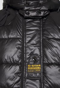 G-Star - EXTRA LONG HOODED PADDED PUFFER  - Winter coat - dk black - 7