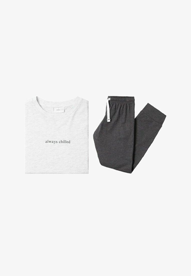 Mango - CHILLED - Pyjama set - hellgrau meliert