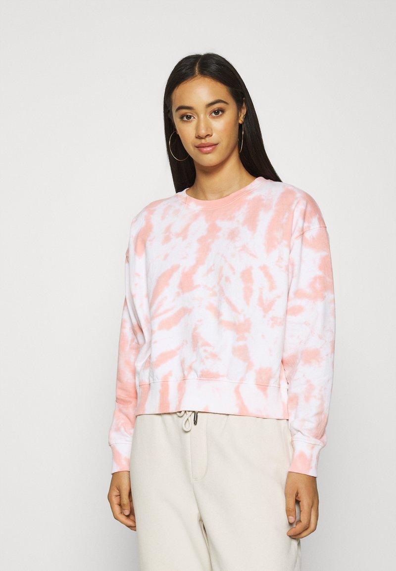 New Look - TIE DYE  - Sweatshirt - mid pink