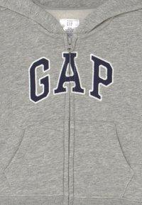GAP - ARCH HOOD UNISEX - Zip-up sweatshirt - light heather grey - 2