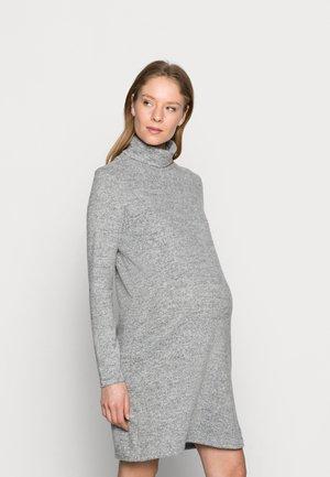 PCMPAM HIGH NECK DRESS - Jumper dress - light grey melange