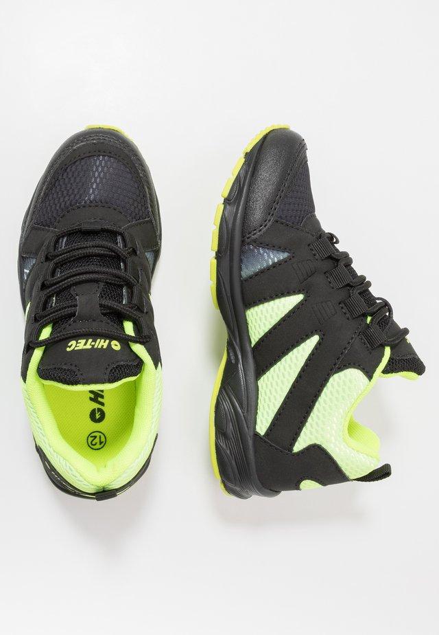 WARRIOR - Hiking shoes - lime/black