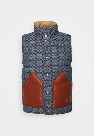 VEST CHAMBRAY SIGNATURE - Veste sans manches - blue
